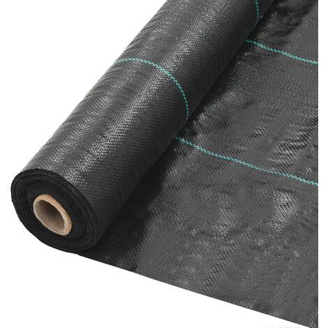 Unkraut- und Wurzelschutzfolie PP 2 x 25 m Schwarz