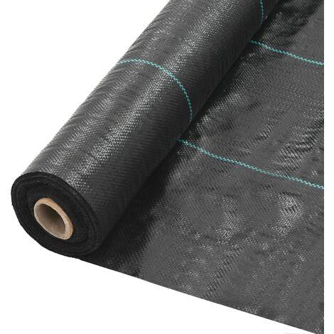 Unkraut- und Wurzelschutzfolie PP 2 x 5 m Schwarz