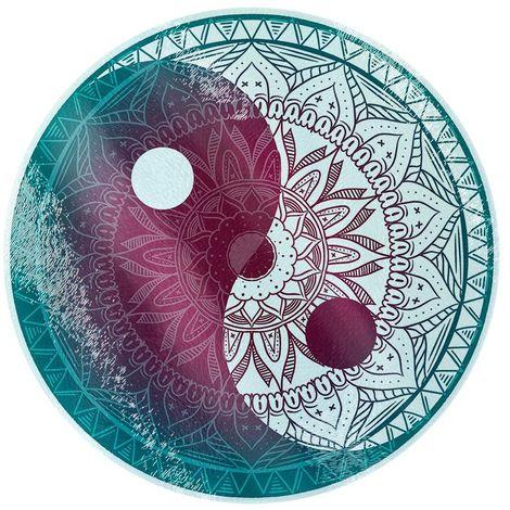 Unorthodox Collective Yin Yang Circular Chopping Board (One Size) (Teal/Purple)