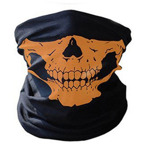 Unseamed Multifunctional Headband Skull Bandana Helmet Neck Face Mask Thermal Scarf Halloween Props