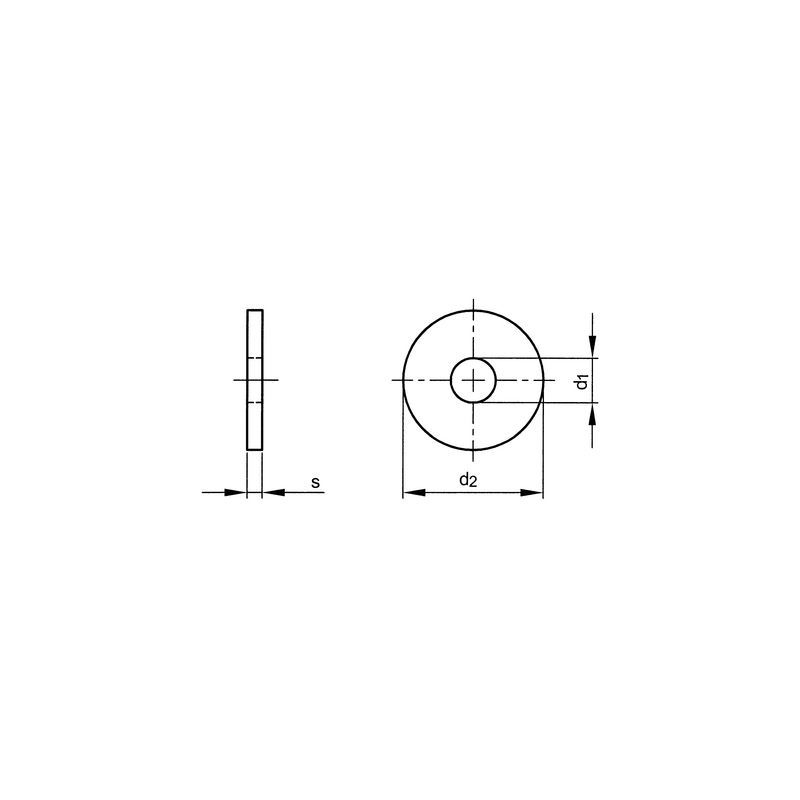 Unterlegscheiben M12 feuerverzinkt DIN 440 R für Holzkonstruktionen 100 Stk