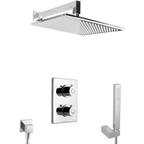 unterputz Duschsystem mit Thermostat Regendusche Duschset Messing Komplett