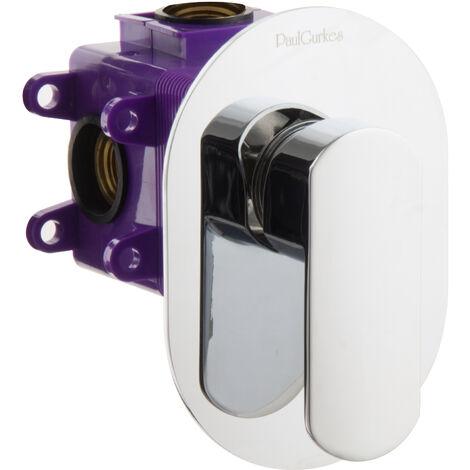 Unterputz Einhandmischer Mischbatterie oval mit Montagebox