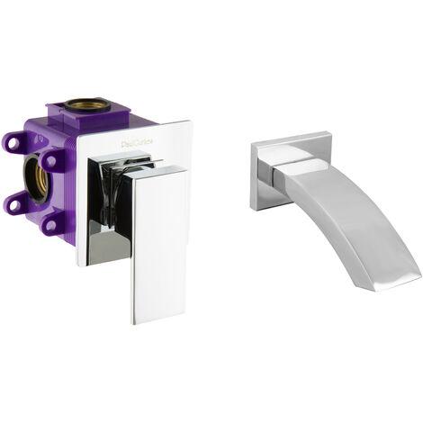 Unterputz-Set eckig mit Zulauf für Waschtisch und Wanne Montagebox