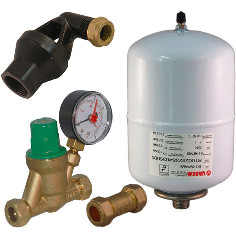 Unvented expansion & pressure reducing kit A B C for Ariston and Heatrae Sa
