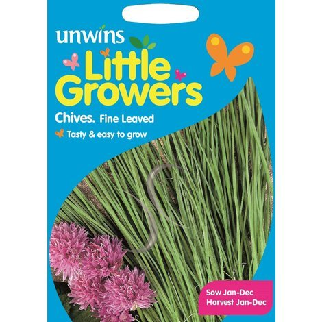 Unwins Pictorial Packet - Little Growers Chives Fine Leaved - 150 Seeds