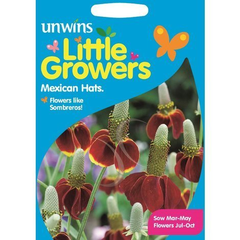 Unwins Pictorial Packet - Little Growers Mexican Hats - 1000 Seeds