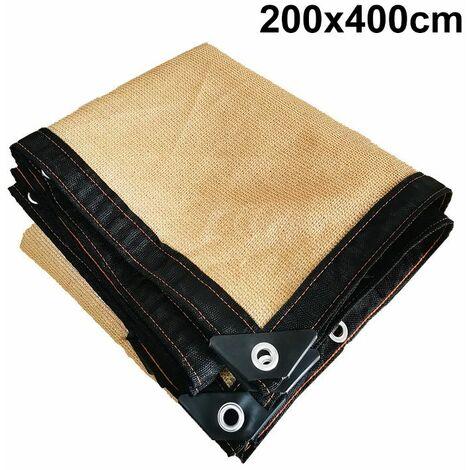 (UP 90% shading rate)?8Pin Anti-UV PE Sun Visor Shade Fabric Voile Terraces 2 * 4m