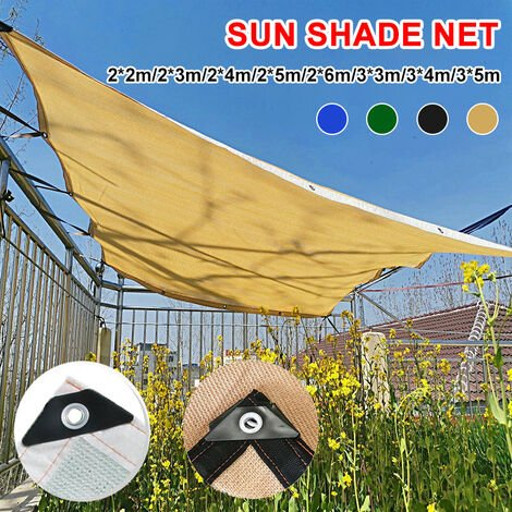 (UP 90% shading rate)?8Pin Anti-UV PE Sun Visor Shade Fabric Voile Terraces 3 * 3m