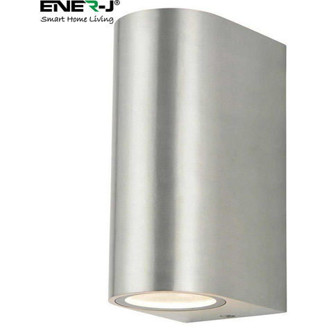 Up-Down GU10 Fitting Wall Light Silver Husing