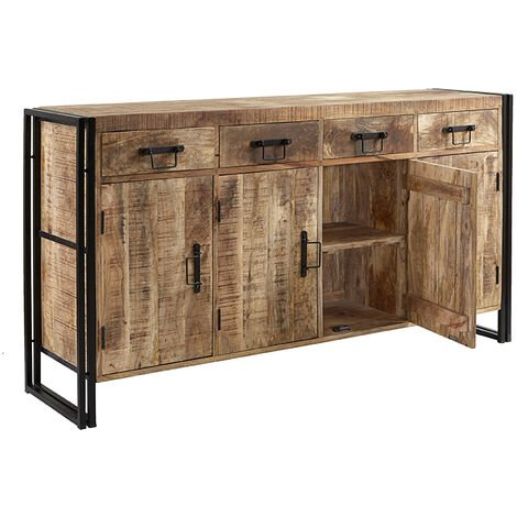 """main image of """"Upcycled Industrial Mintis Extra Large Sideboard - Light Wood"""""""