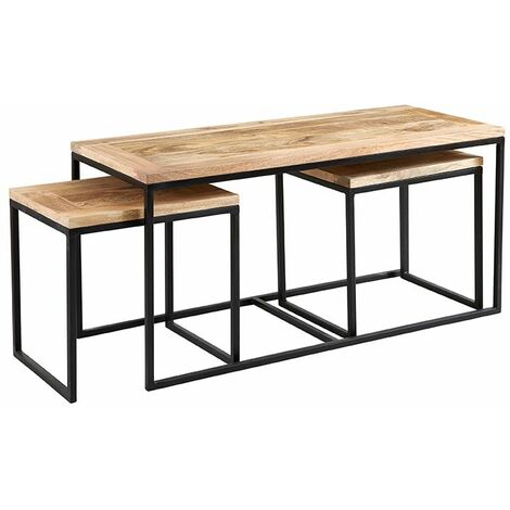Upcycled Industrial Vintage Mintis Coffee Table Set