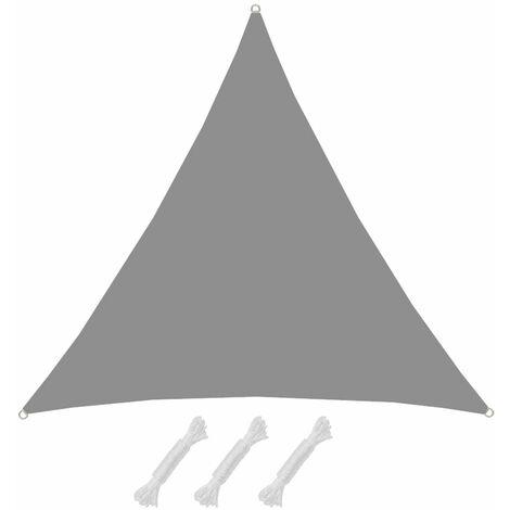 UPF50+ Toldo UV 3x3x3 m Triángulo Poliéster Hidrófugo Vela Solar Gris