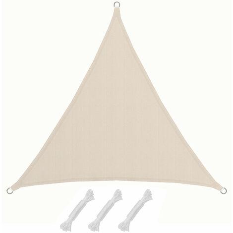 UPF50+ UV Sonnensegel 2x2x2 Polyester Dreieck Wasserabweisend Garten Segel Beige