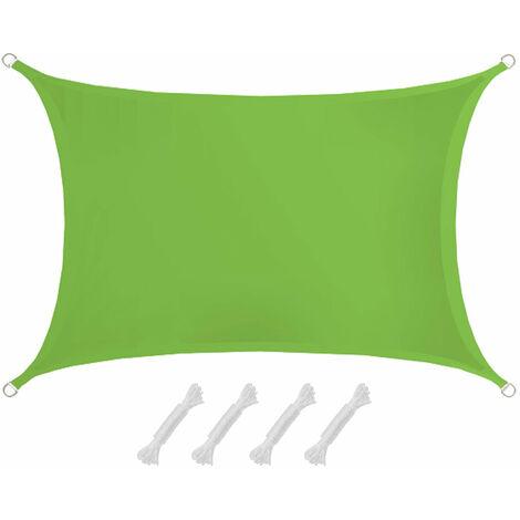 UPF50+ UV Sonnensegel 2x3 Polyester Rechteck Wasserabweisend Garten Balkon Grün