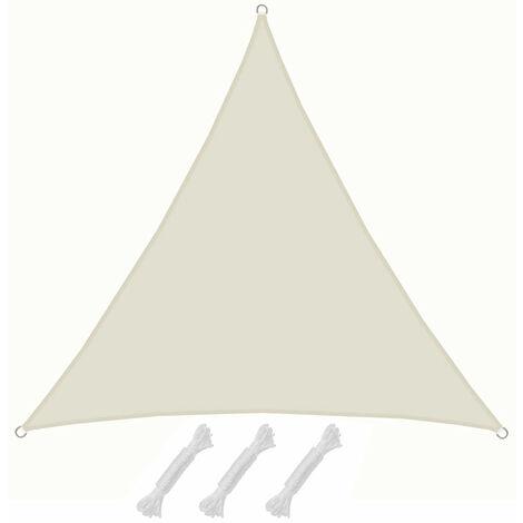 UPF50+ UV Sonnensegel 4x4x4 Polyester Dreieck Wasserabweisend Garten Segel Beige