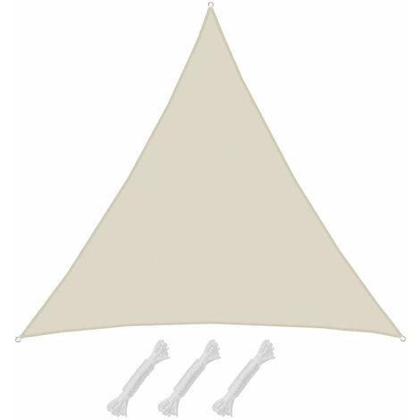UPF50+ UV Sonnensegel 7x7x7 Polyester Dreieck Wasserabweisend Garten Segel Beige