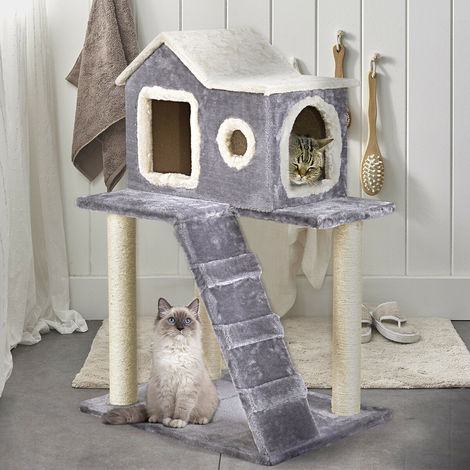 Upgrade Cat Tree Scratching Post Scratcher Kitten Climbing Play Activity Center