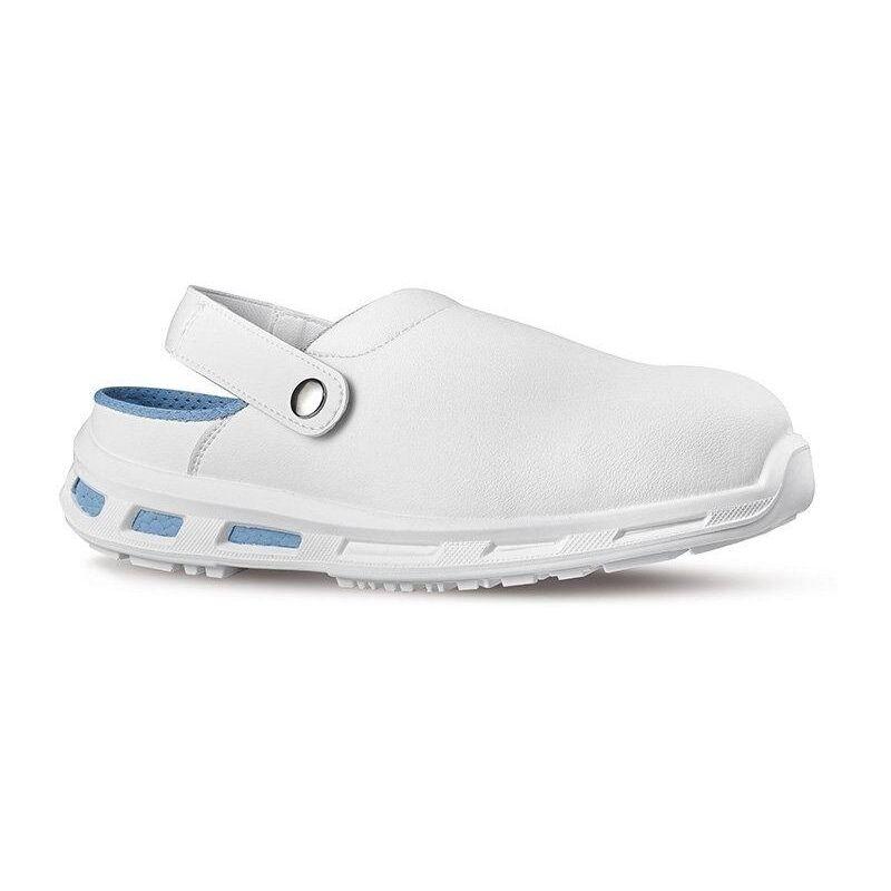 Guantity limitata quantità limitata lusso Upower moon zoccoli antinfortunistici bianchi con fascia regolabile