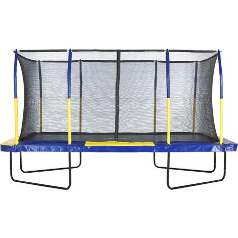 """main image of """"Upper Bounce Mega Large Rectangle Trampoline with Fiber Flex Enclosure Net System   Professional Rectangular Trampoline for Adults and Kids   Garden & Outdoor   Easy Assemble"""""""