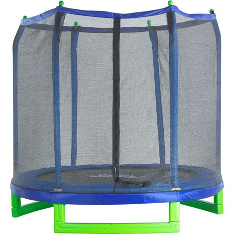 Upper Bounce Large Trampoline and Enclosure Set Equipped with Easy Assembly Feature   Garden & Outdoor Trampoline with Safety Enclosure Net   Ultra Durable Foam Mat and Safety Pads