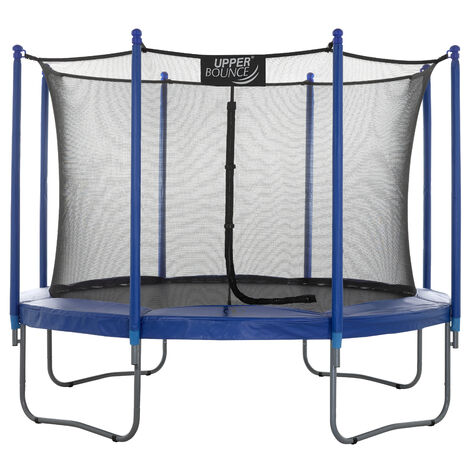 Upper Bounce Large Trampoline and Enclosure Set Equipped with Easy Assembly Feature | Garden & Outdoor Trampoline with Safety Enclosure Net | Ultra Durable Foam Mat and Safety Pads