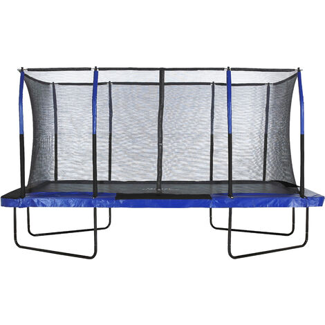 Upper Bounce Mega Large Rectangle Trampoline with Fiber Flex Enclosure Net System   Professional Rectangular Trampoline for Adults and Kids   Garden & Outdoor   Easy Assemble