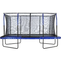 Upper Bounce® - Mega Rectangular Trampoline - Fiber Flex Enclosure System - Easy Assemble