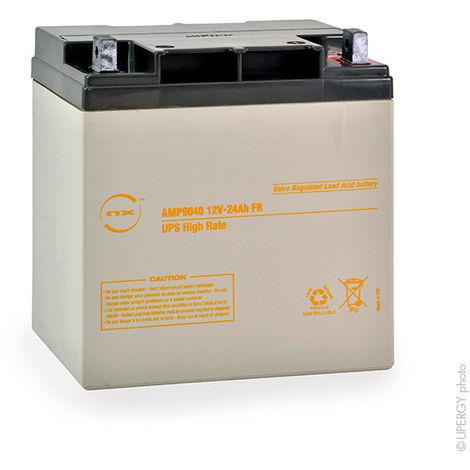 UPS Battery NX 24-12 UPS High Rate FR 12V 24Ah M6-M