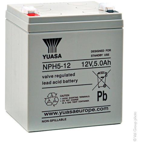 UPS Battery YUASA NPH5-12 12V 5Ah F6.35