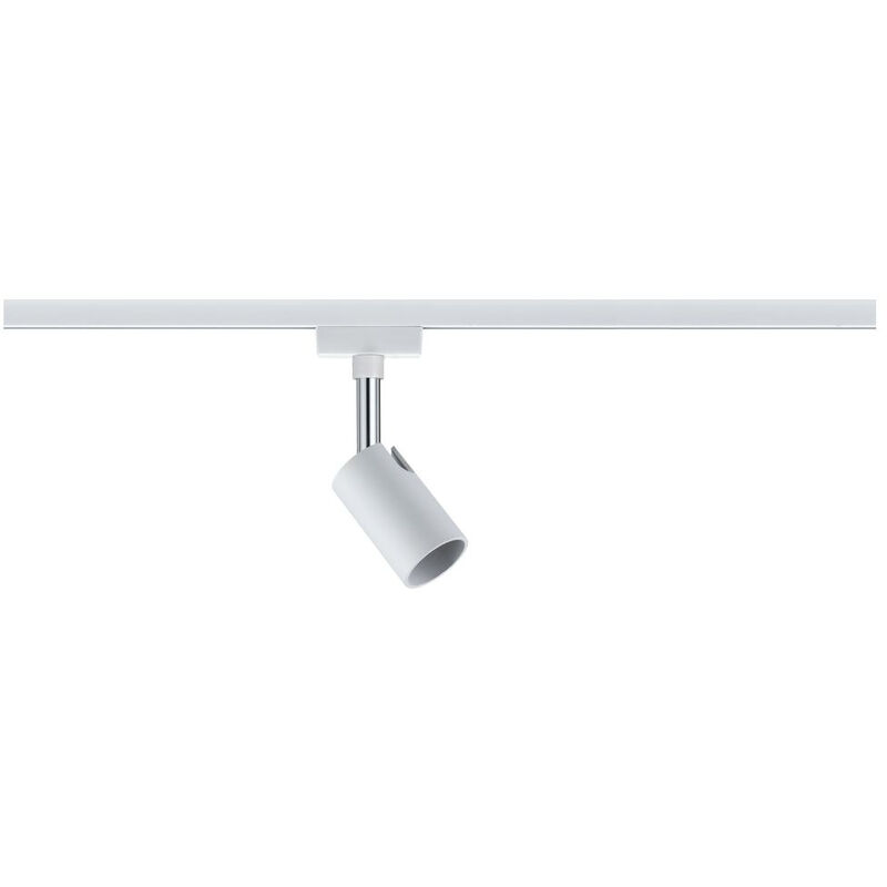 GU10 Fassung URail System Spot aus Metall in weiß und chrom