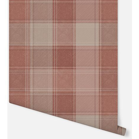 Urban Check Rust Wallpaper - Arthouse - 904102
