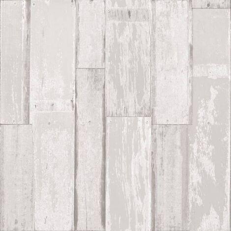 Urban Friends & Coffee Papel pintado tablones de madera blanco