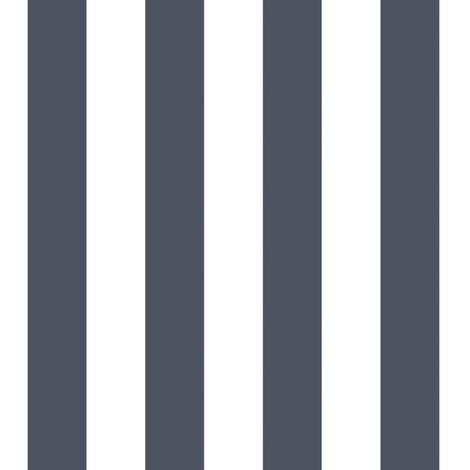 Urban Friends & Coffee Wallpaper Stripes Blue and White - Multicolour