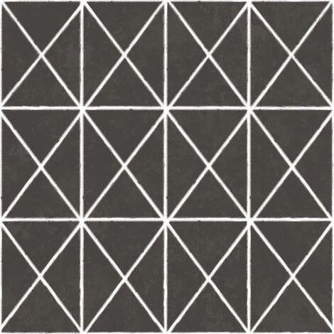 Urban Friends & Coffee Wallpaper Stripes Cross Black and White