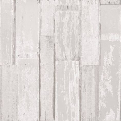 Urban Friends & Coffee Wallpaper Wooden Planks White - White