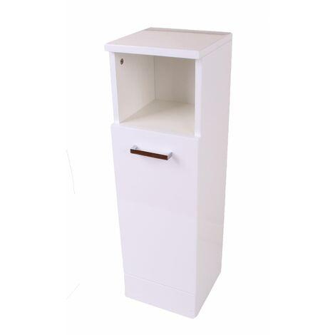 Urbino Freestanding Slimline High Gloss Bathroom Cabinet, Soft Close Hinges