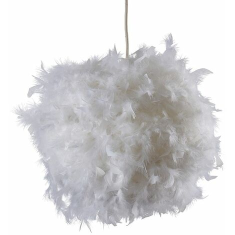 Uriel Real Feather Ball Shade - Pink - Pink