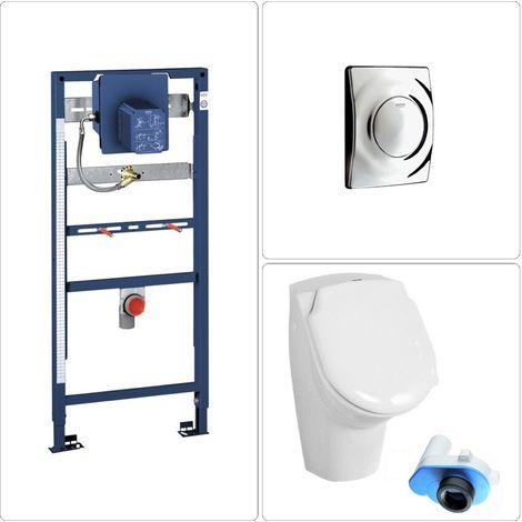 Urinal mit Deckel Set Grohe, chrom