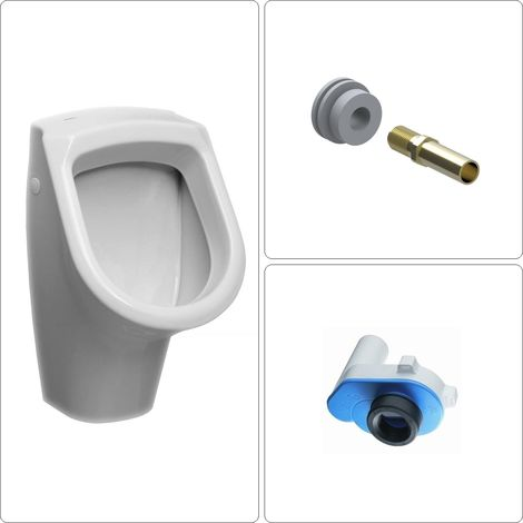 Urinal mit Zulauf von hinten Set