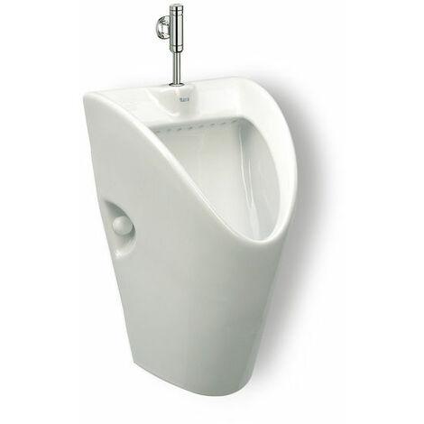 Urinario de porcelana con entrada de agua superior - Serie Chic , Color Blanco - Roca