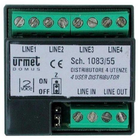 urmet 1083/55 | urmet 1083/55 - dérivateur vidéo 2voice 4 sorties