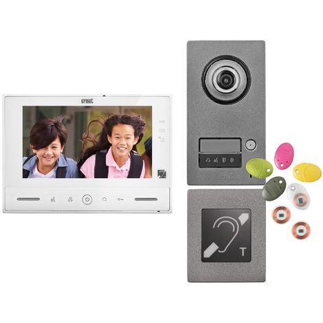 urmet 1723/71erp | urmet 172371erp - kit note 2 erp vidéo couleur 7'' mains-libres à mémoire 1 appel