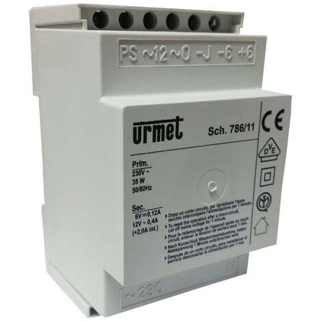 URMET fuente de alimentación de intercomunicación de la base del generador nota 786/11