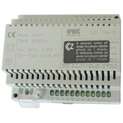URMET fuente de alimentación de intercomunicación para sistemas de intercomunicación con doble generador nota 786/15