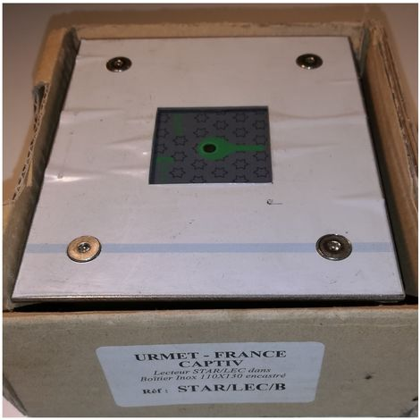 Urmet STAR / LEC / B Spieler STAR / LEC Box aus Edelstahl - gebaut Ø110x130