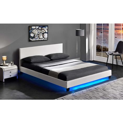 URSA PU Leather Bed Frame with LED on Footend