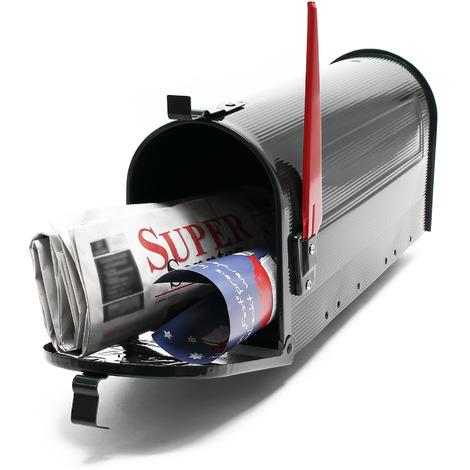 US Mailbox black American Design Letterbox Postbox Pillar Letter Mail Post Box