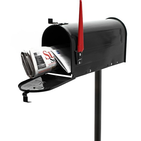 US Mailbox Letter Post Box American Design black with Stand