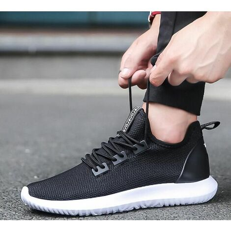 US Men's Casual Sports Shoes Gym Athletic Running Sneakers Outdoor ~ (black, 40)